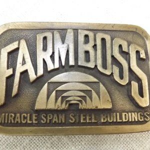 Other - Vintage Farm Boss Collectable Farming Belt Buckle